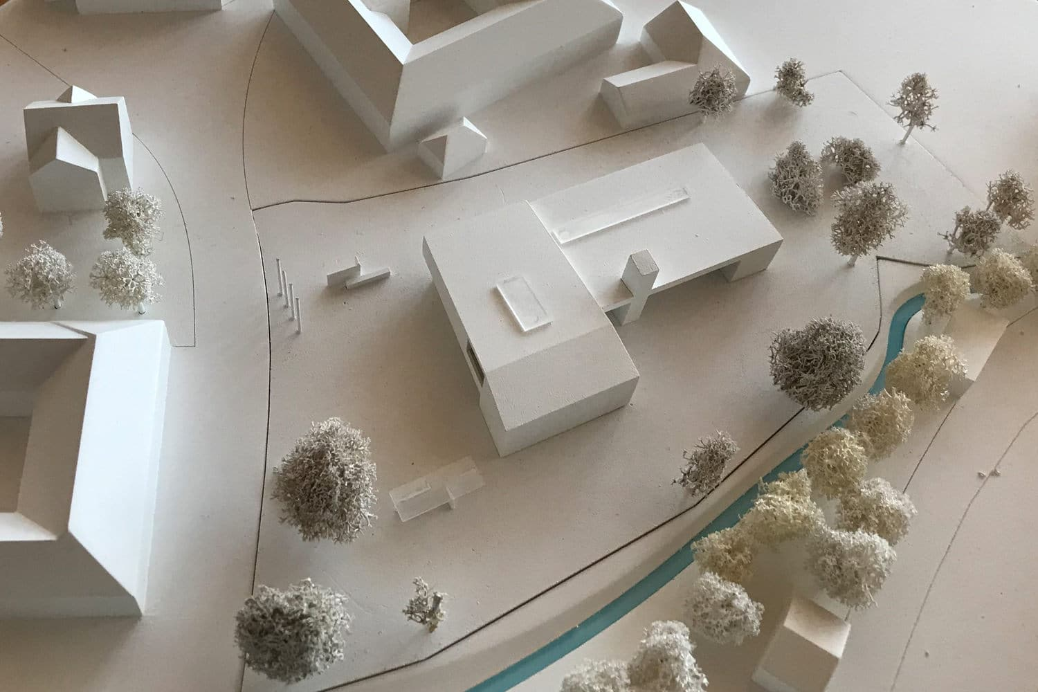 2nd prize, Competition office building and fire department Steinerkirchen