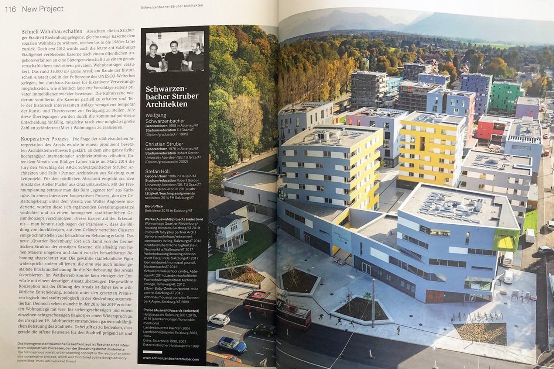 architektur.aktuell, Die Riedenburg in der Ausgabe10/2019