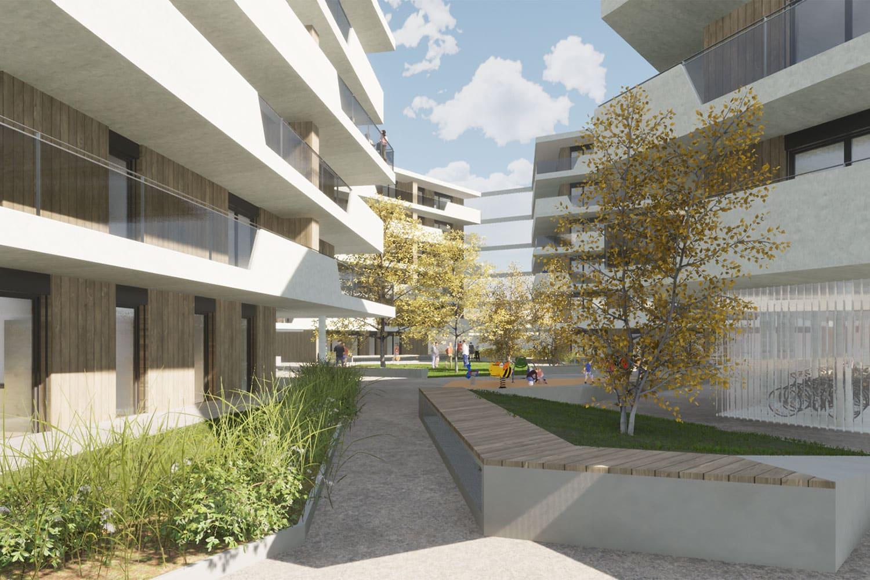Entwurf abgeschlossen, Wohnbau Fürbergstraße