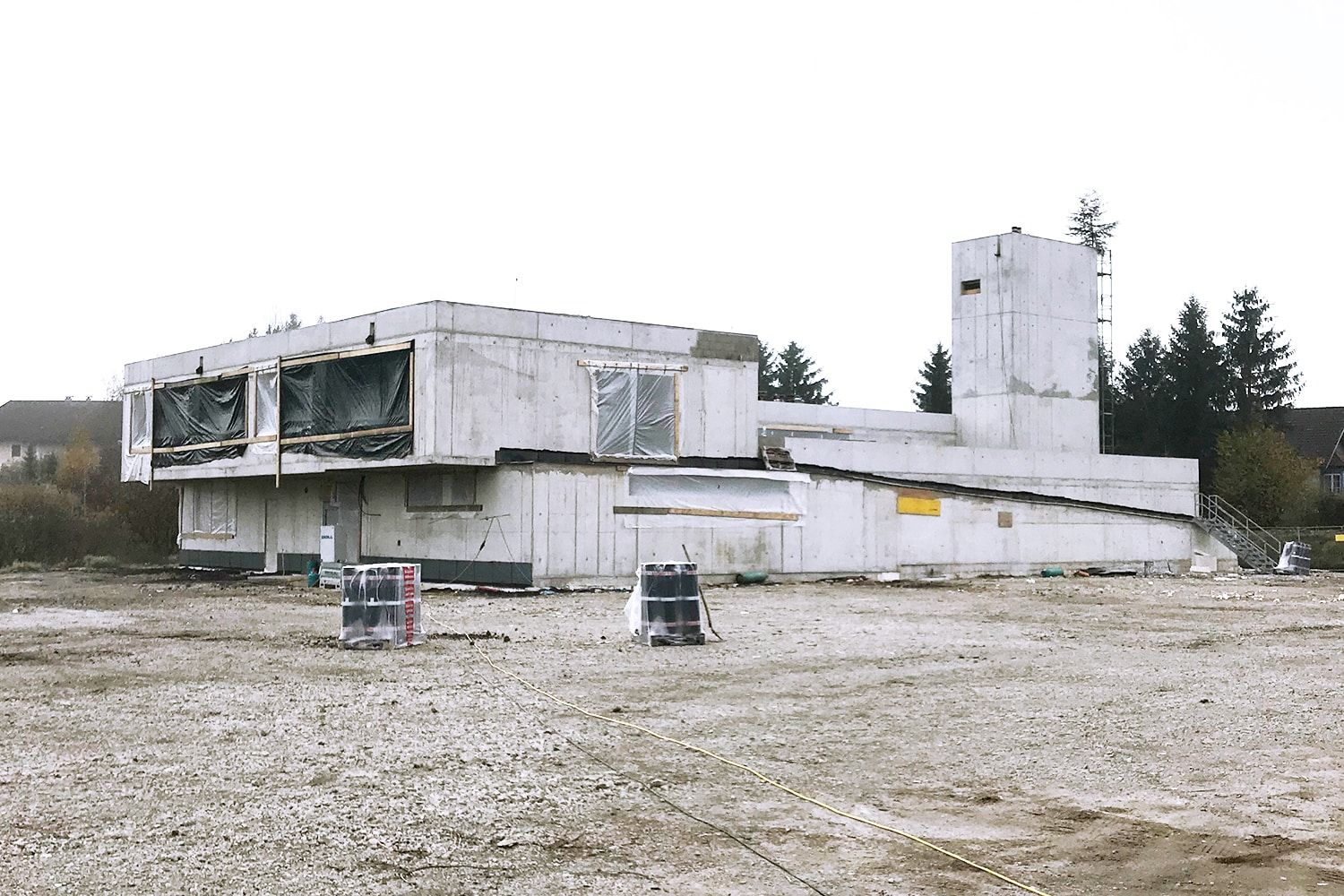 Structural work completed, Fire Station Köstendorf